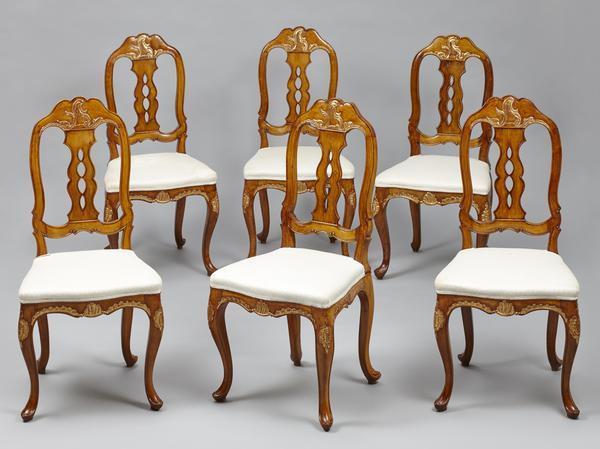 viebahn fine arts sitzm bel satz von sechs barock st hlen norddeutschland oder d nemark. Black Bedroom Furniture Sets. Home Design Ideas