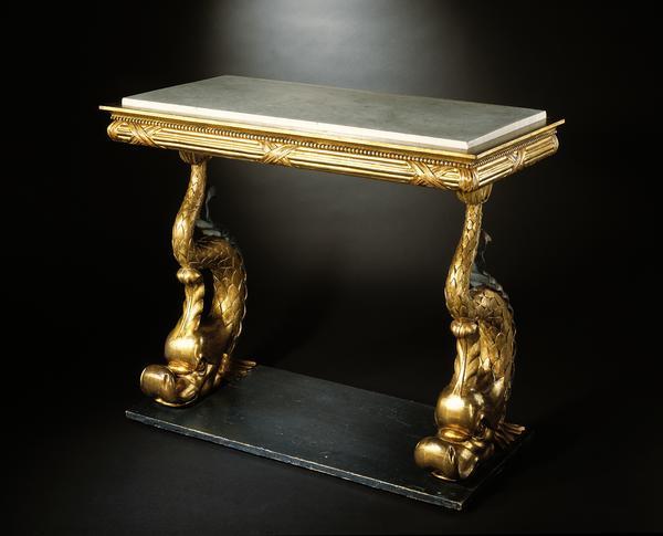 Viebahn Fine Arts Tables Empire Dolphin Console Table