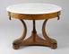 antique,table,centre,Jean-joseph,chapuis,empire,amboyna,bent,laminated wood